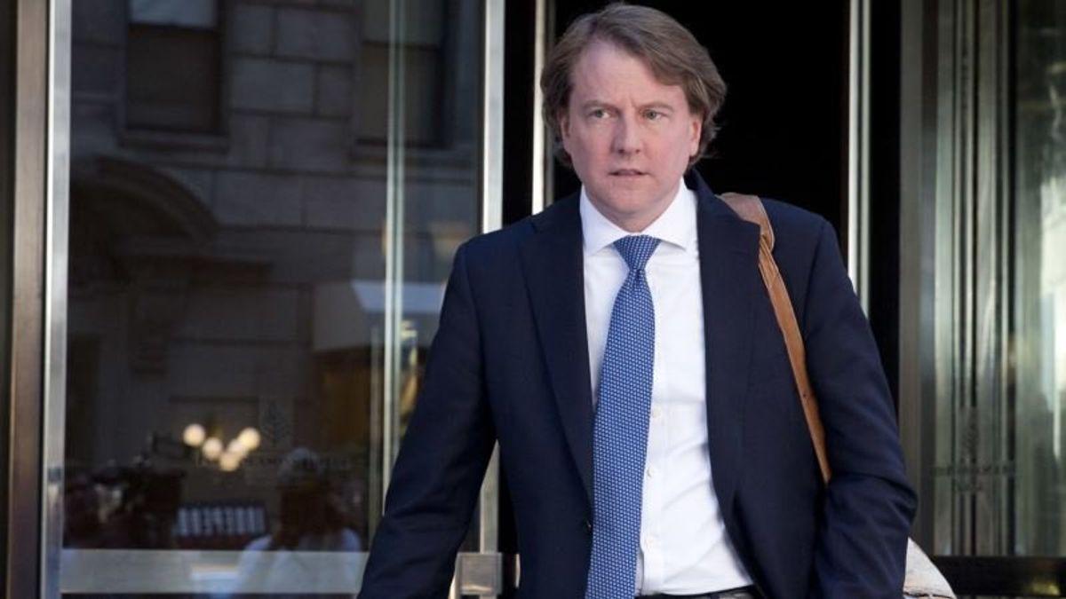 White House Counsel Don McGahn Leaving Soon