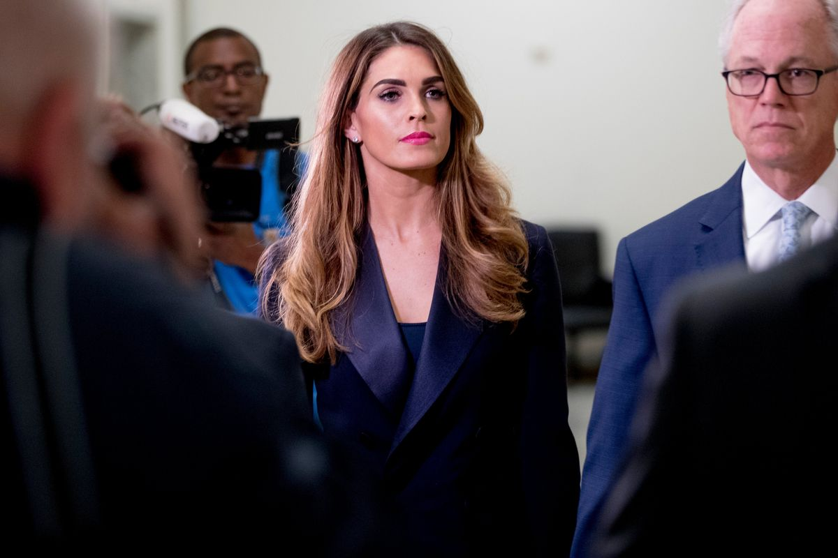 Democrats Interview Former Longtime Trump Aide Hope Hicks
