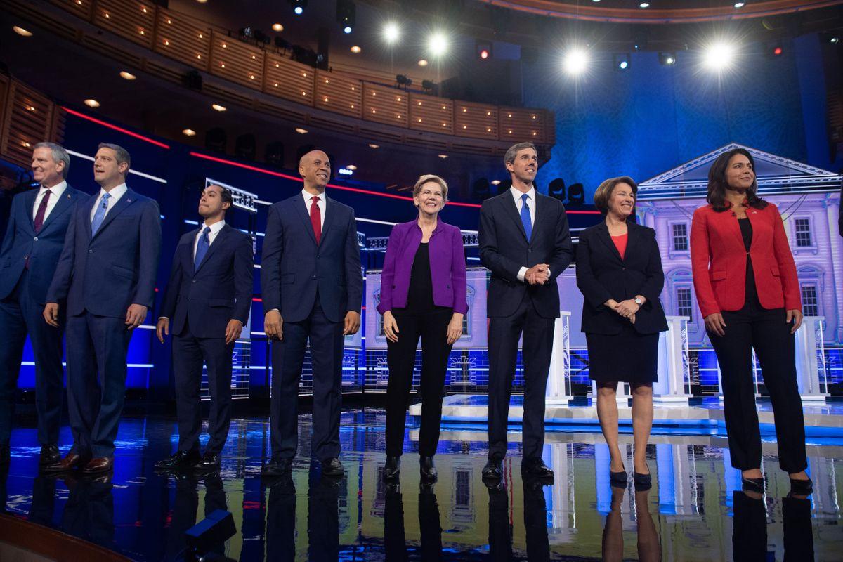 US Democratic Presidential Contenders' Debate Unfolds
