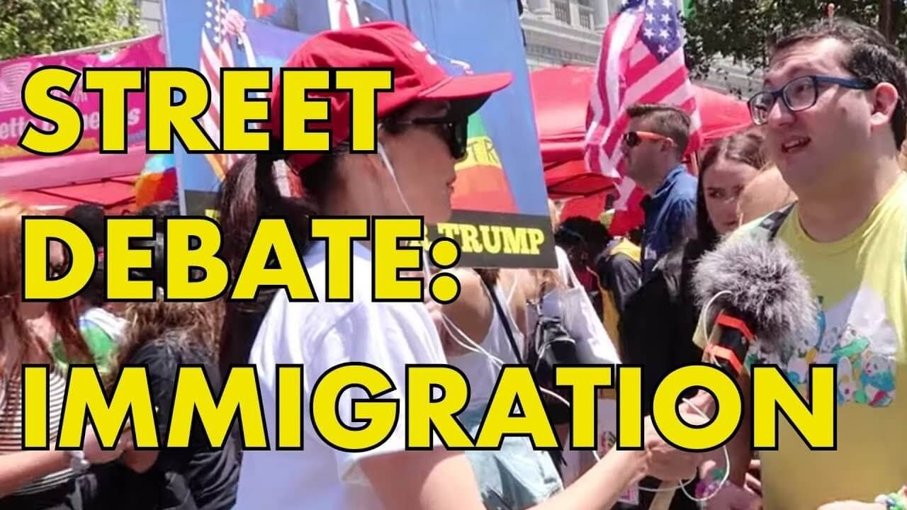 Street Debate: Illegal Immigration & Kids In Cages