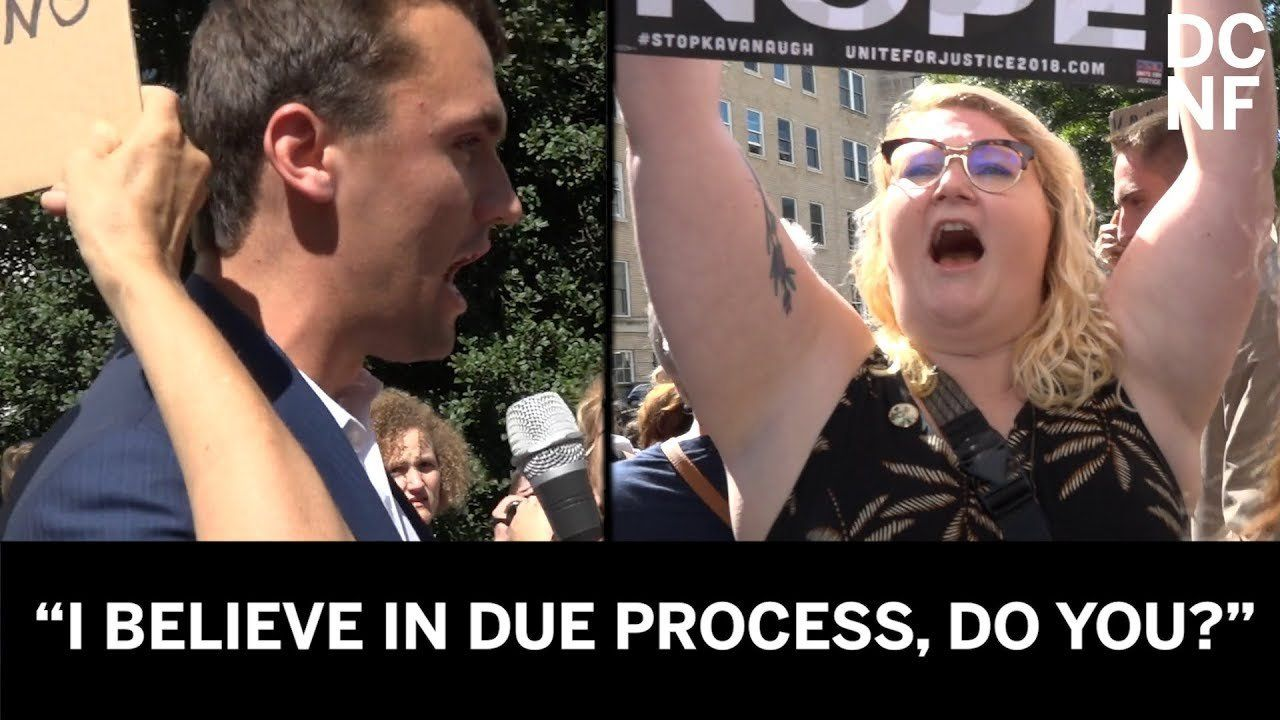 Conservative Gets Shouted Down At Kav Protests – Their Behavior Is Stunning