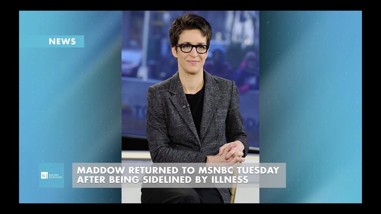 Maddow To Return To MSNBC Tuesday After Being Sidelined By Illness