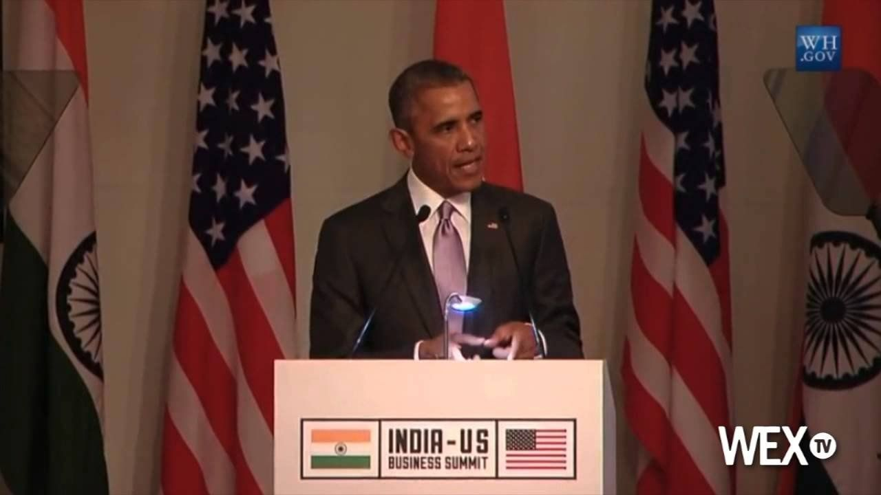 President Obama speaks at U.S.-India business summit