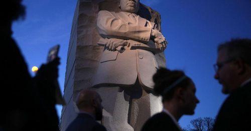 Biden and Harris speak at ceremony to mark anniversary of MLK Jr. Memorial