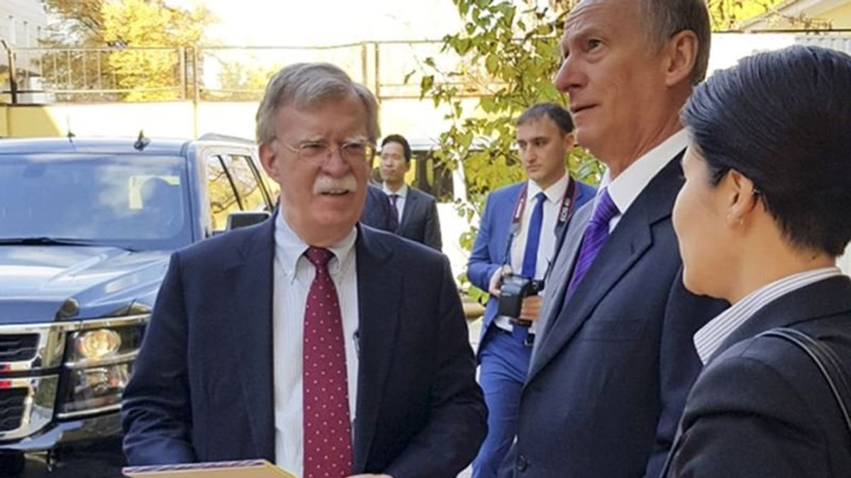 Bolton Meets with Russian Officials on Trump Plan to Withdraw from Arms Treaty