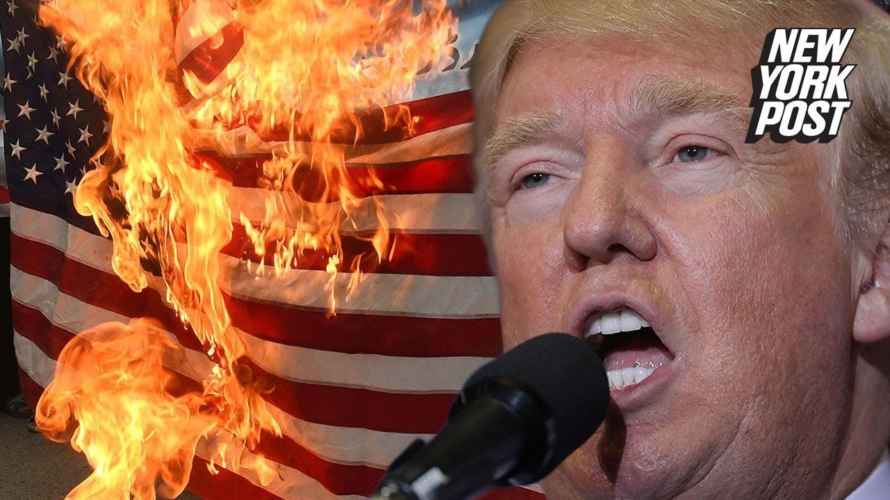 Trump wants flag burners behind bars, and so does Hillary