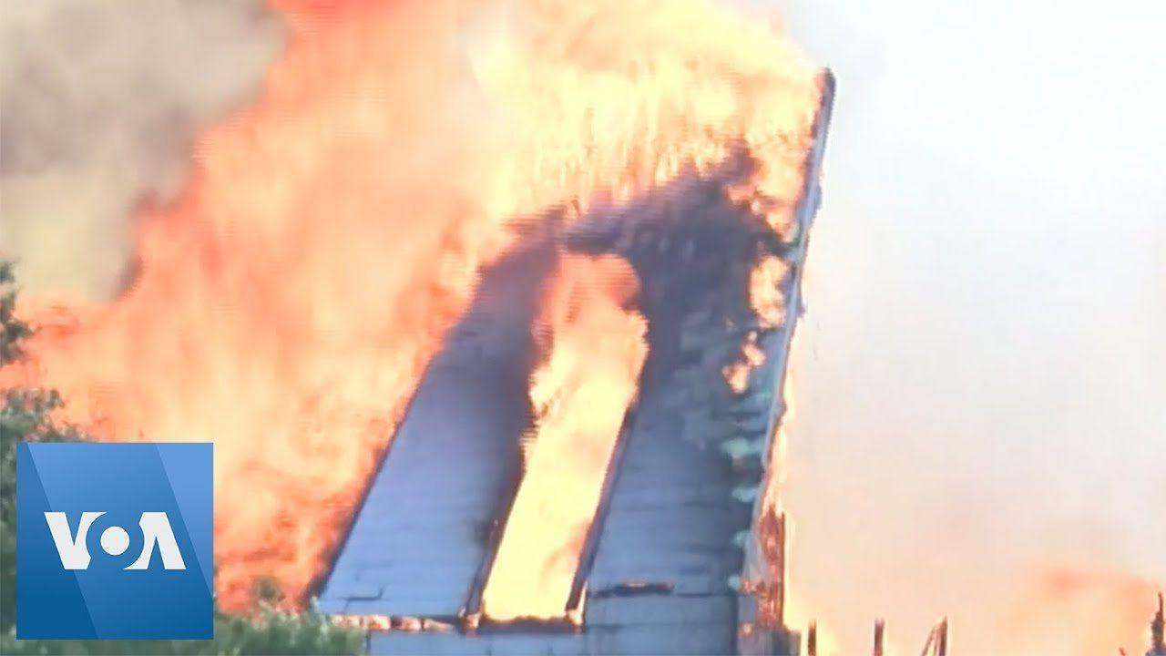 Fire Destroys Historic Texas Church
