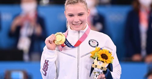 Team USA gymnast Jade Carey wins gold medal in Olympics floor exercise