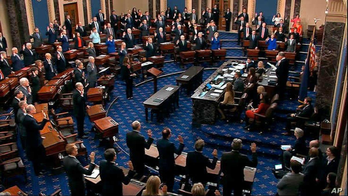At Trump's Impeachment Trial, 100 Senators Face Strict Rules
