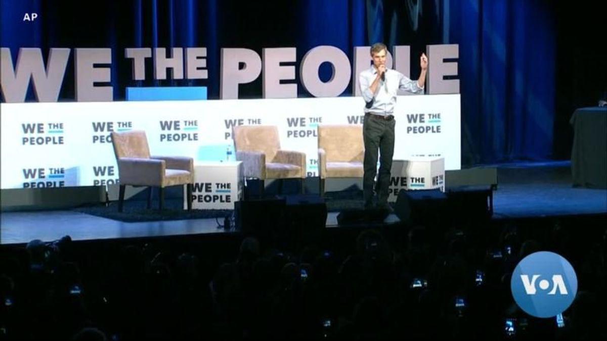 Large Democratic Presidential Field Targets Trump