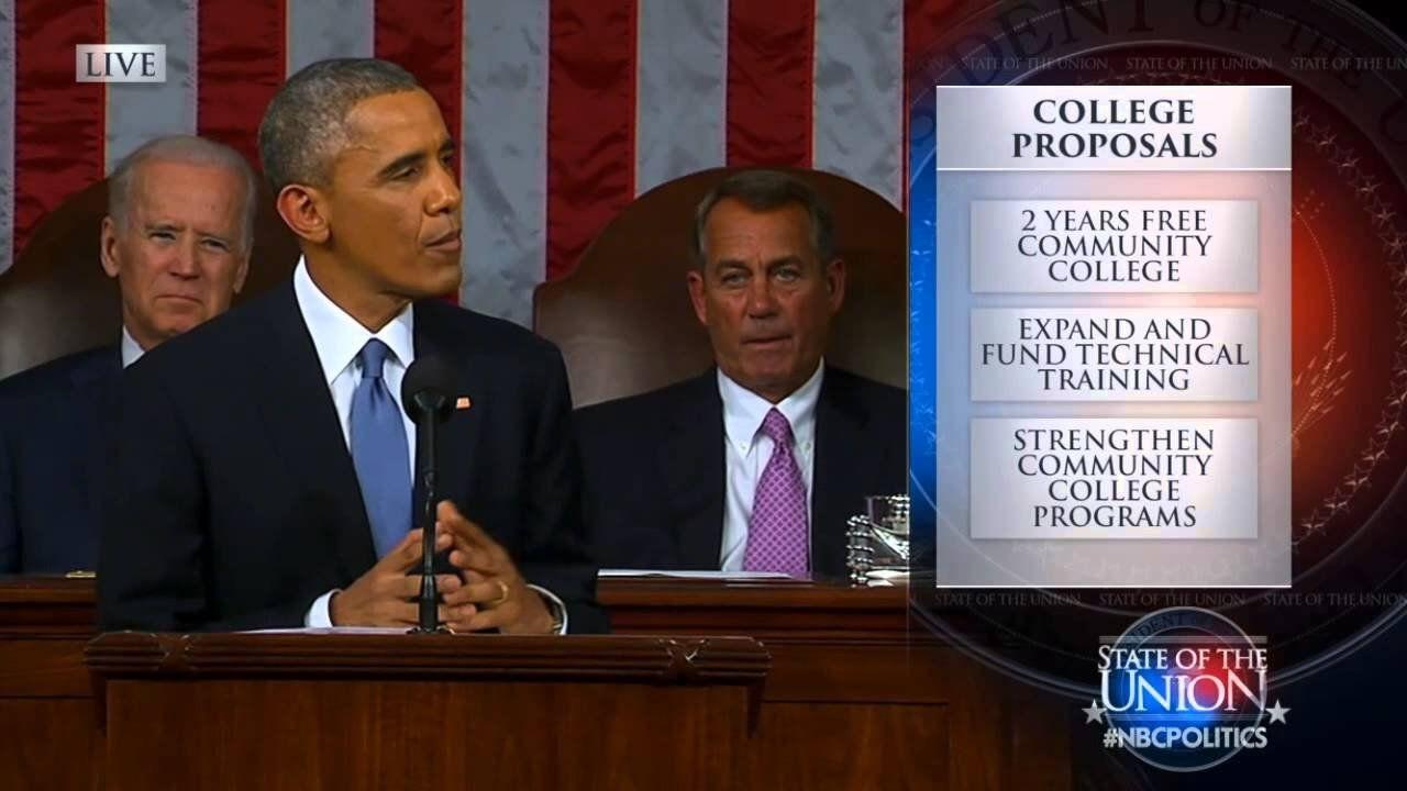 Obama rolls out community college plan in SOTU address