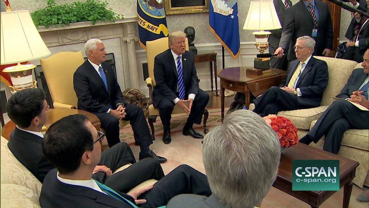 CLIPS: White House Meeting w/ President Trump and Congressional Leaders (C-SPAN)