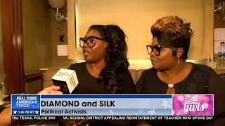 Diamond and Silk talk with Ben Bergquam at the MAGA Fank Rally