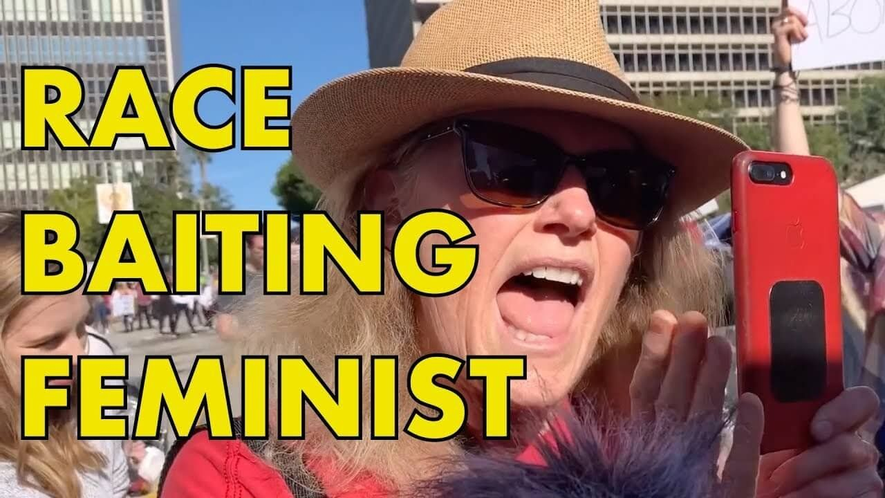 WOMEN'S MARCH: Race-Baiting Feminist Hit With Facts