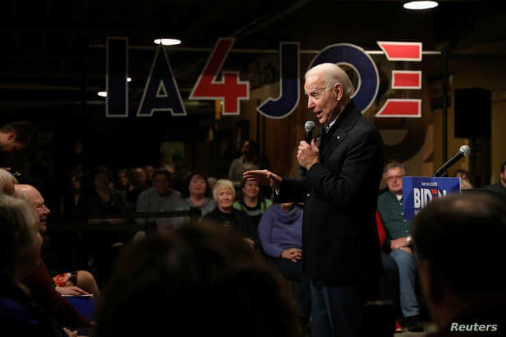 FILE PHOTO: Democratic U.S. presidential candidate and former U.S. Vice President Joe Biden speaks during a town hall in…