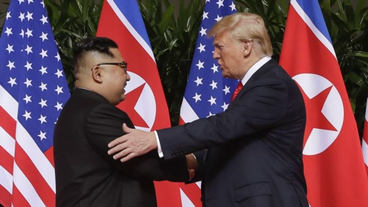 Trump 'Very Happy' with North Korea Nuclear Weapons Talks