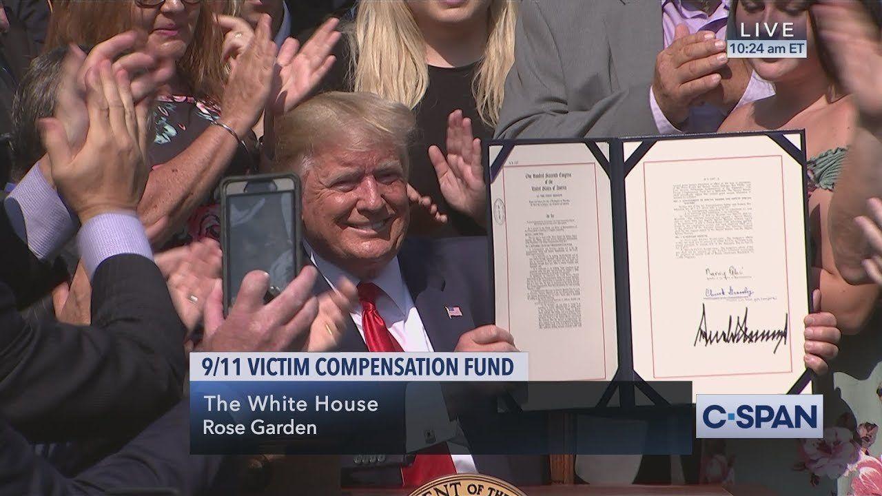 President Trump signs 9/11 Victim Compensation Fund Bill (C-SPAN)
