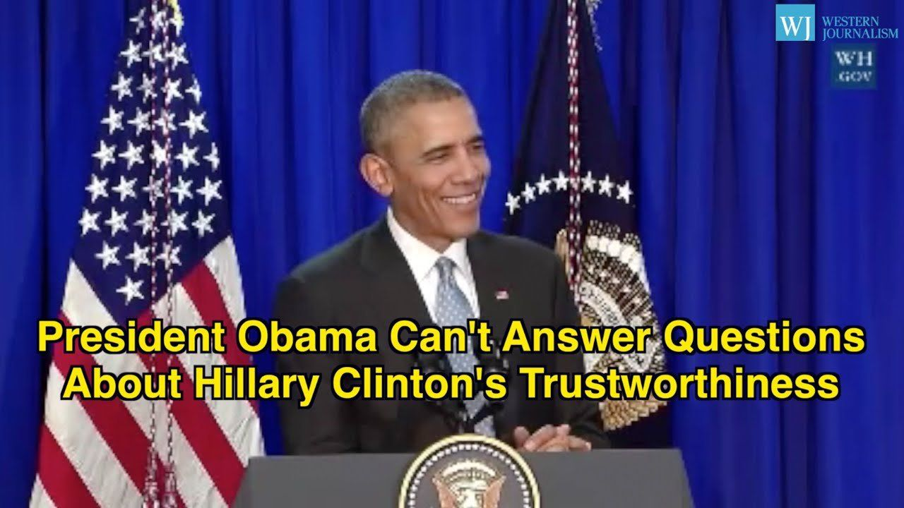 President Obama Can't Answer Questions About Hillary Clinton's Trustworthiness