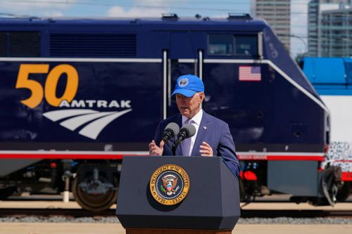 Biden Celebrates Amtrak's 50 Years on the Rails