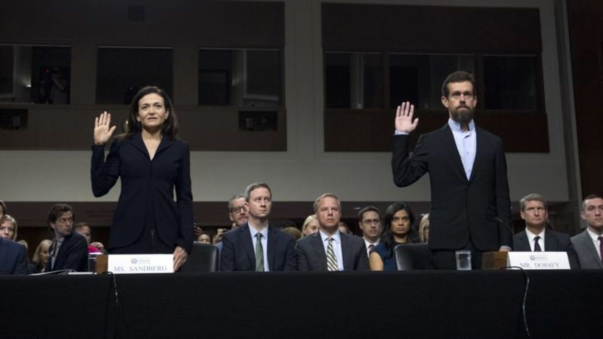 Facebook, Twitter Executives Testify on Capitol Hill; Google Absent