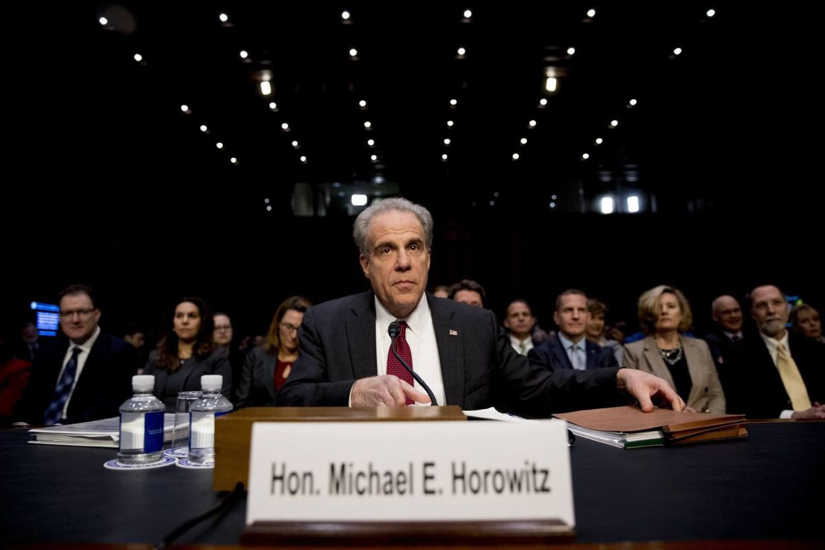 Justice Department Inspector General Says His Report Doesn't 'Vindicate' Anyone