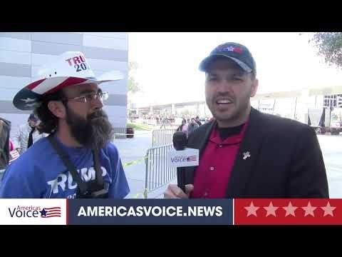 Ben Bergquam speaks to Jason Frank Man who carried in Retired Vet at Phoenix Rally