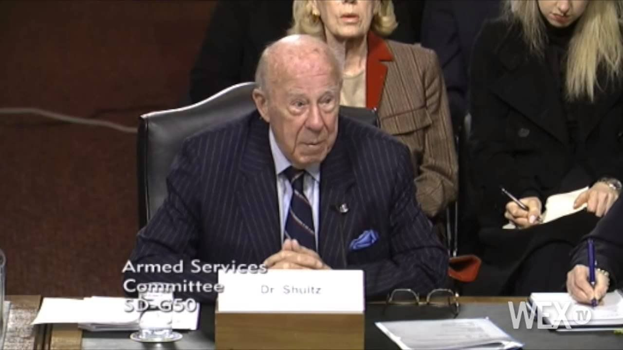 George Shultz on foreign policy: 'No empty threats'