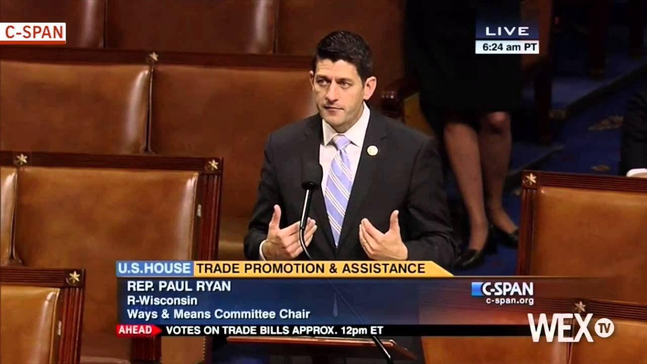Rep. Paul Ryan makes final push for trade
