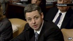 In this May 7, 2008, image from video provided by C-SPAN, Raymond Kethledge testifies during his confirmation hearing for the Sixth U.S. Circuit Court on Capitol Hill in Washington. President Donald Trump is closing in on his next Supreme Court nominee, with three federal judges leading the competition to replace retiring Justice Anthony Kennedy.
