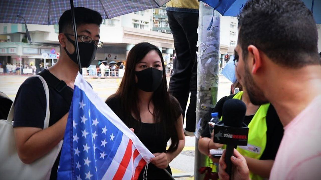 MUST SEE: Hong Kong protesters plead for Trump's help   Avi Yemini