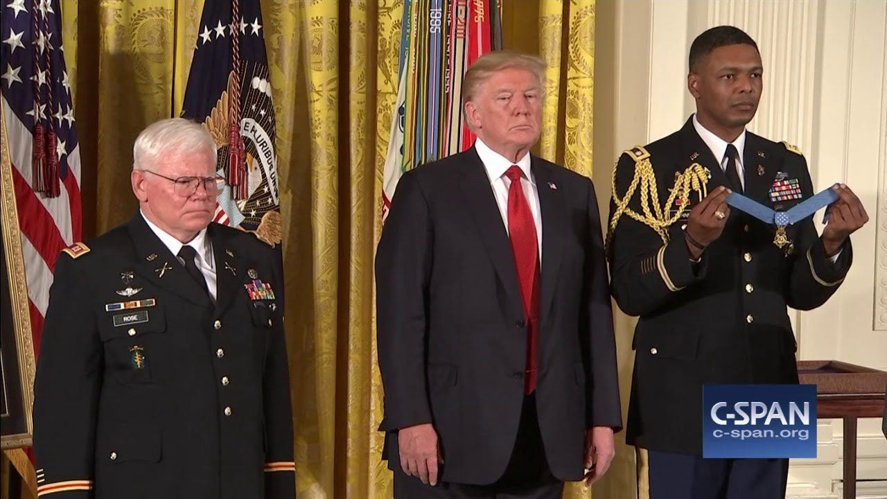 President Trump awards Medal of Honor to Retired U.S. Army Sergeant Gary Rose (C-SPAN)