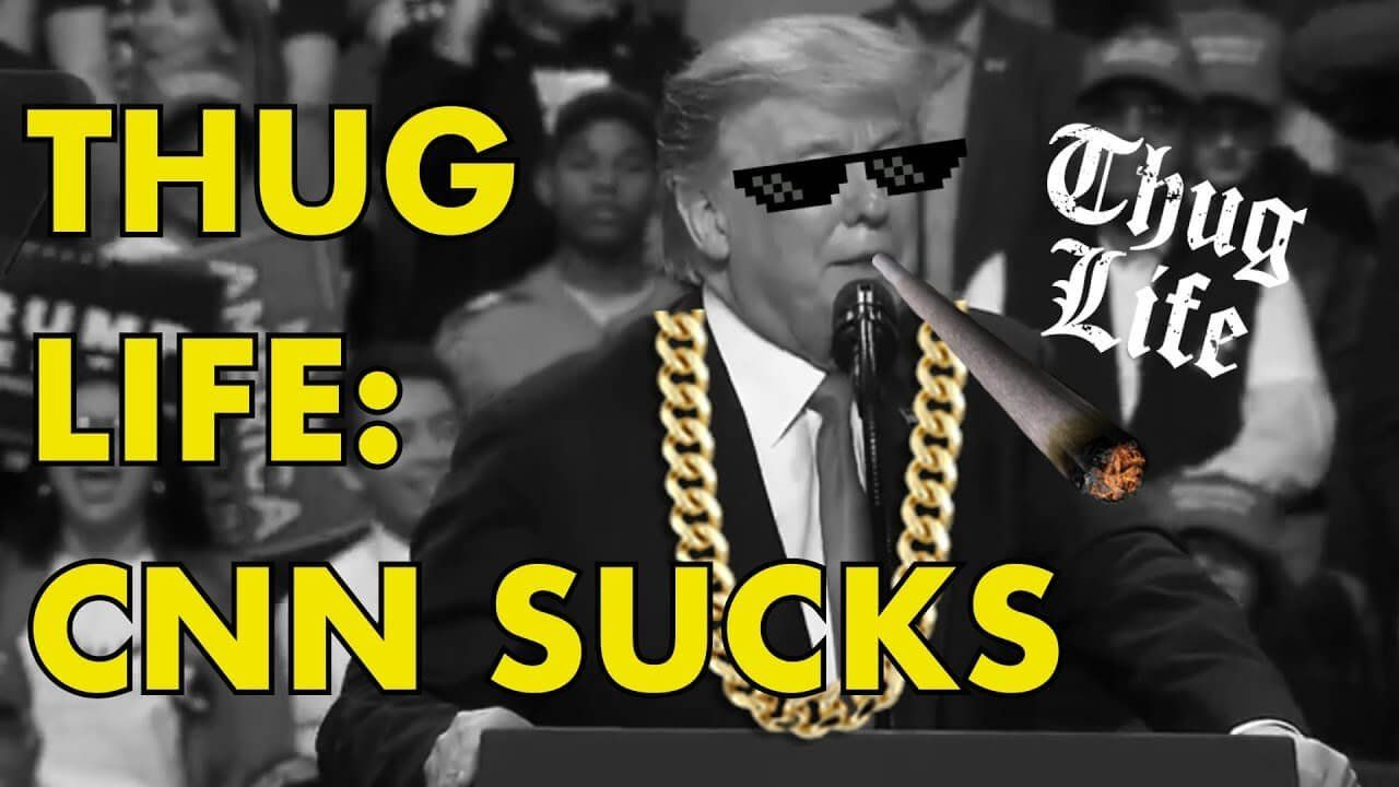 Thug Life: Donald Trump: CNN SUCKS! Fake News!