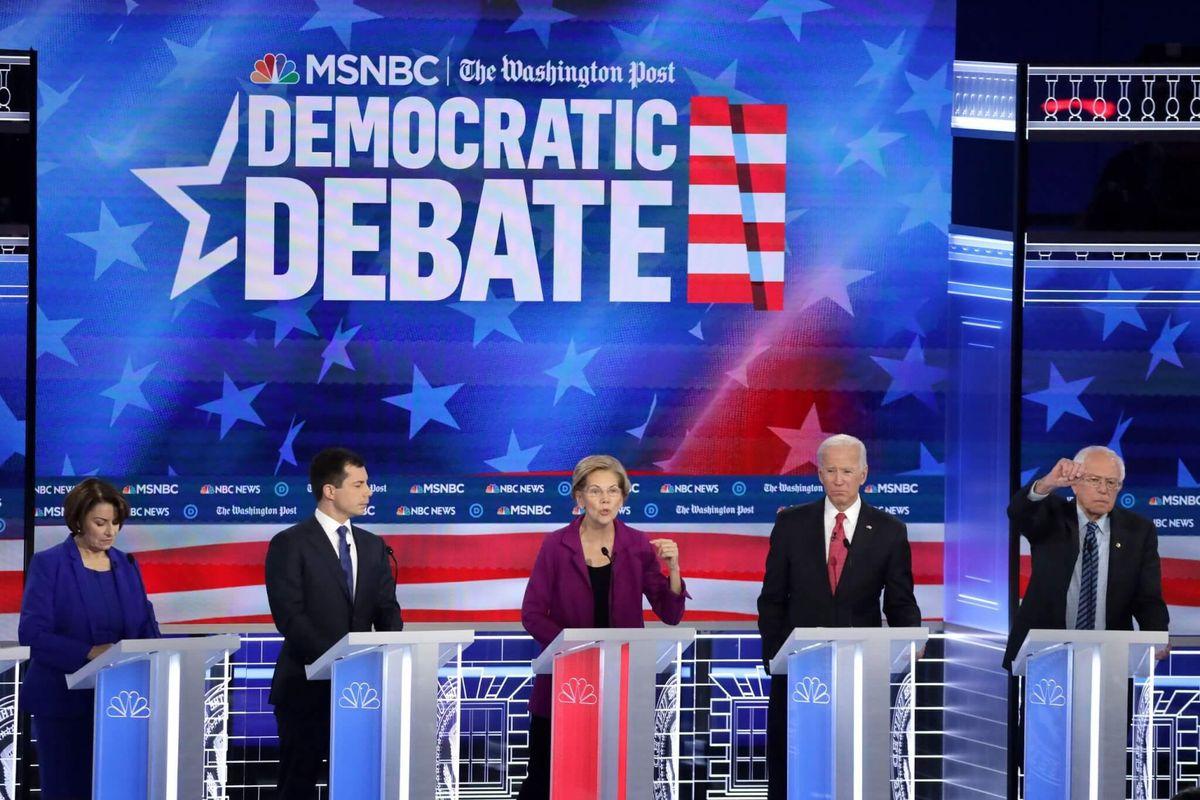Seven Democratic Presidential Candidates Debating to Take on Trump