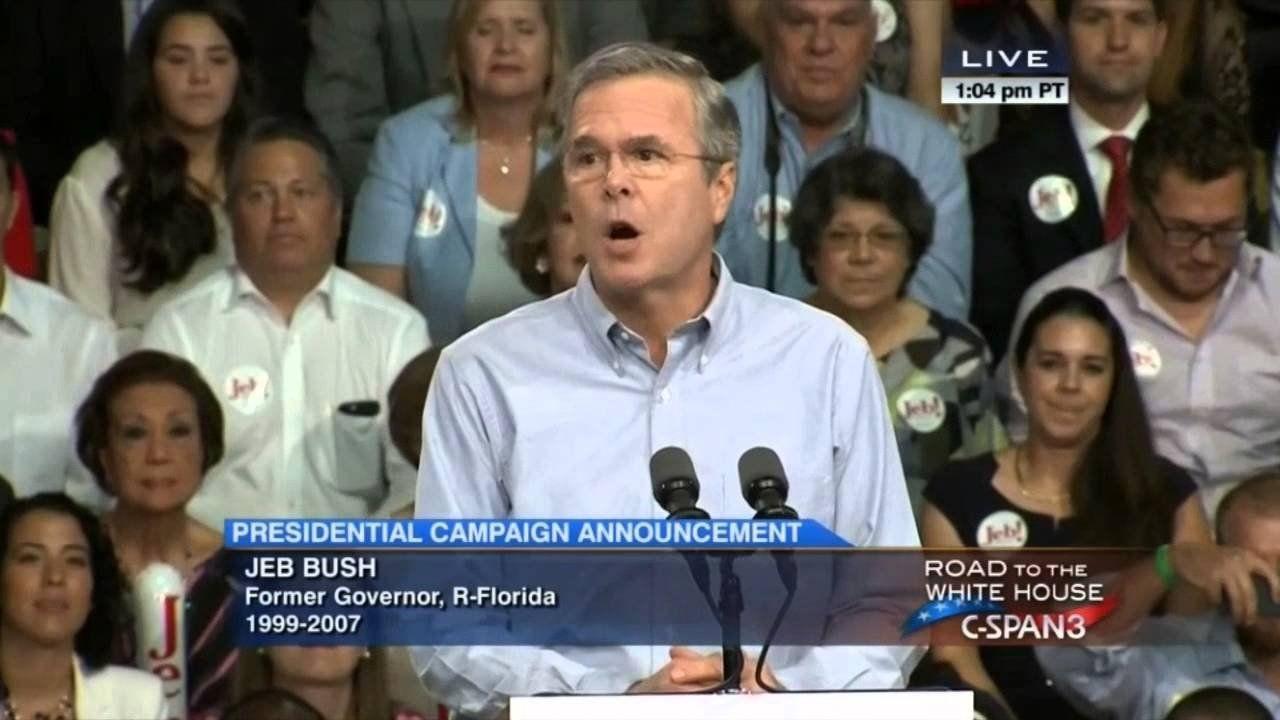 Jeb Bush announces 2016 campaign