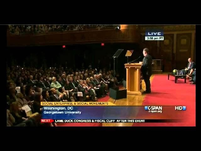 Bono does his best Bill Clinton presentation at Georgetown