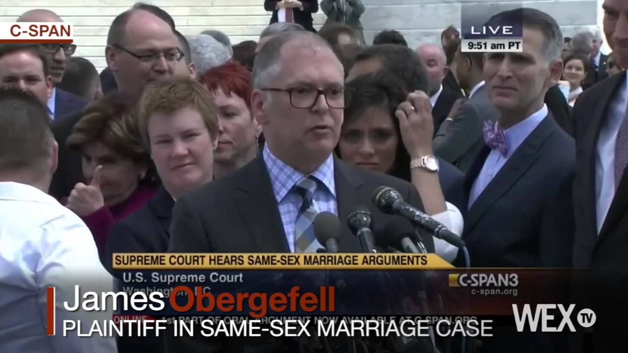 Plaintiffs speak as Supreme Court considers same-sex marriage