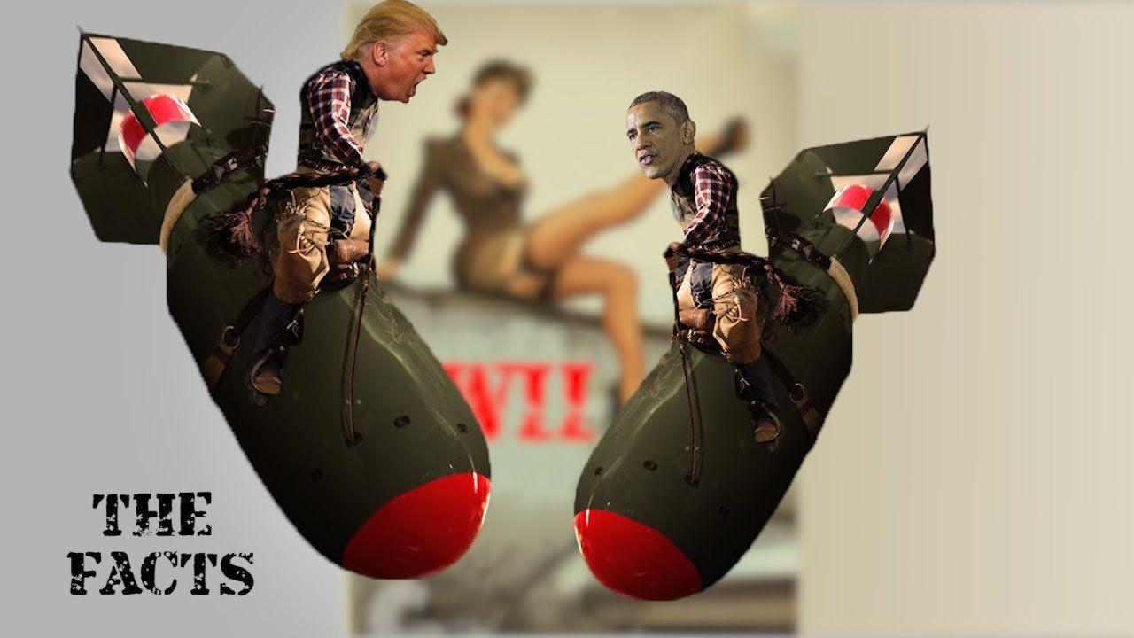 Trump and Obama Drop Bombs