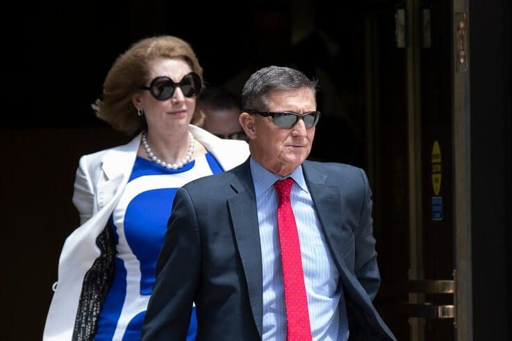 Former national security adviser Michael Flynn, leaves the federal courthouse in Washington, Monday, June 24, 2019. Flynn's…