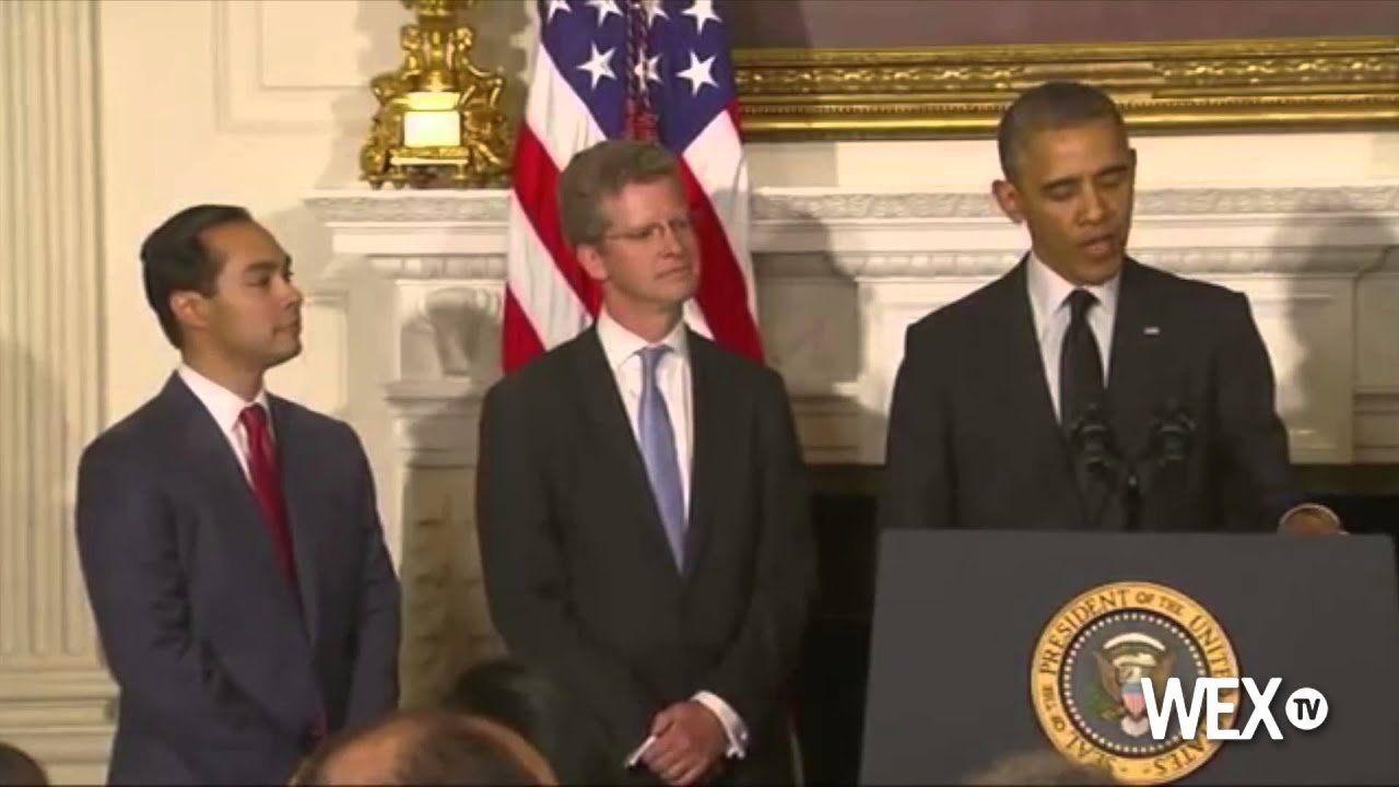 Joe Biden swears in Julian Castro to HUD office
