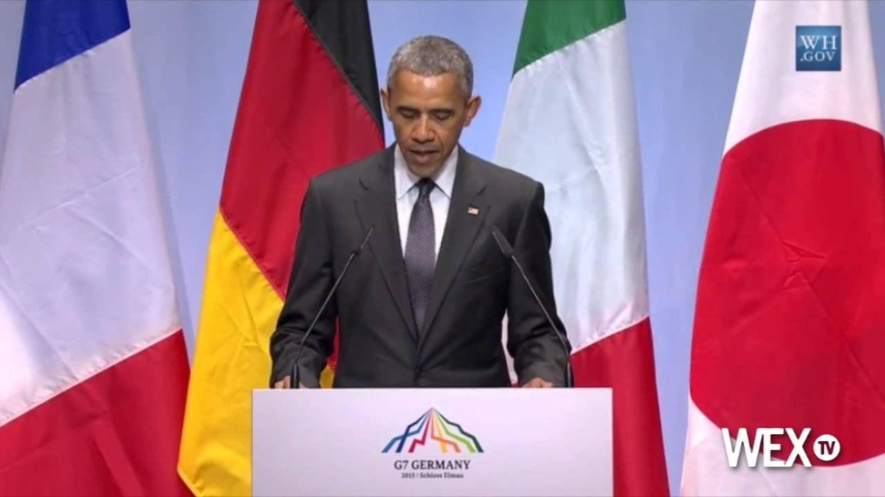 Obama talks global warming during G7 press conference