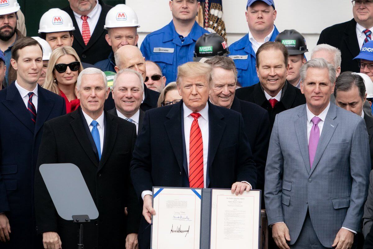 Trump signs USMCA – keeps promise on fair and reciprocal trade after threat to leave NAFTA