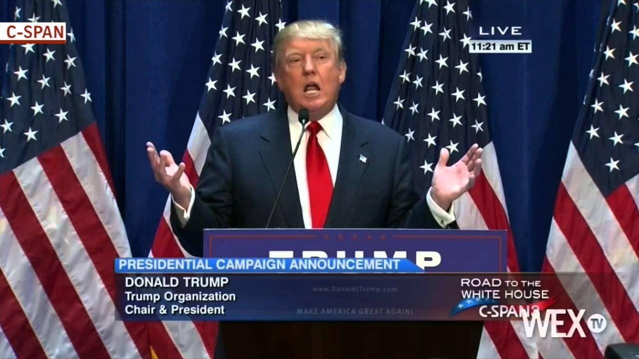 Donald Trump officially announces presidential bid