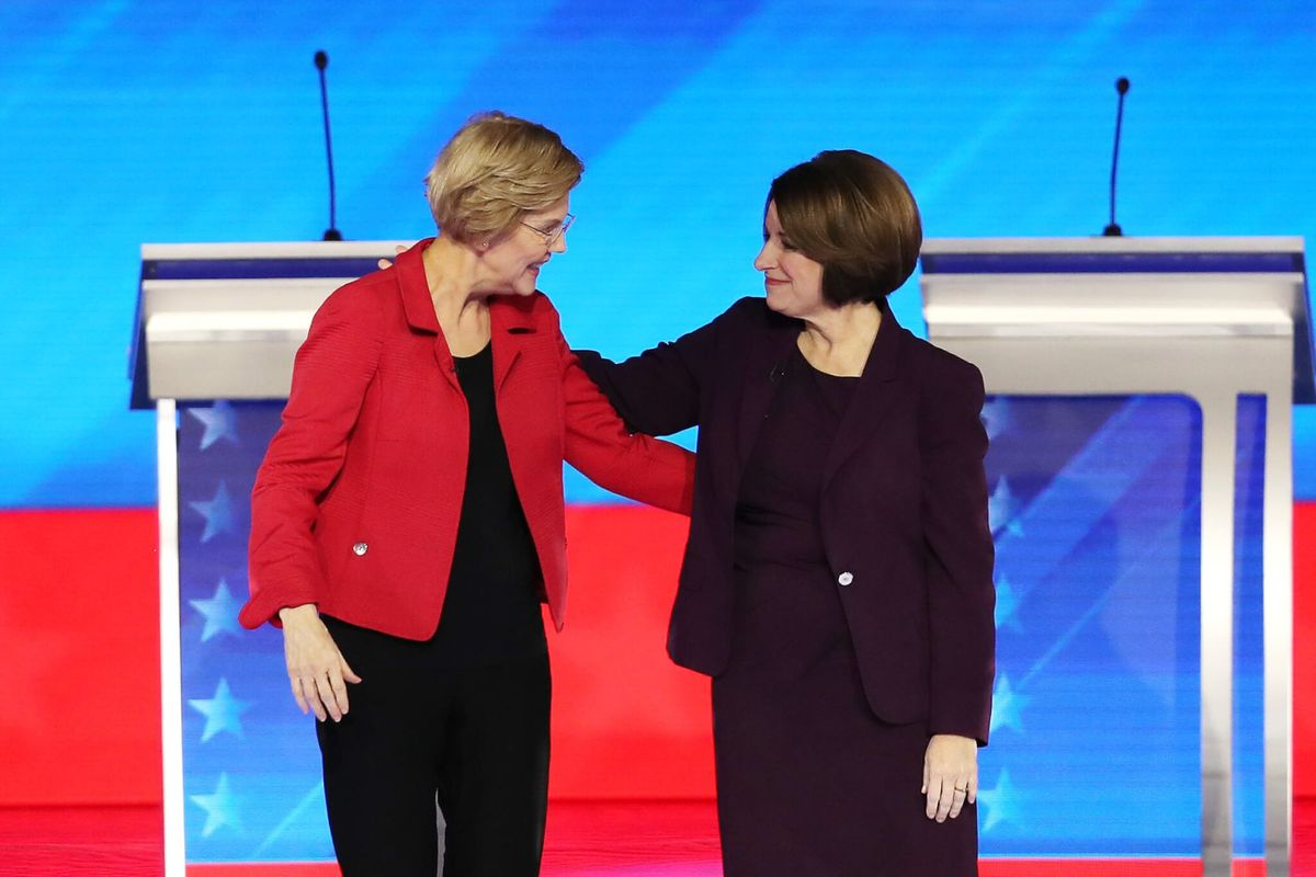 Super PACs Aid Warren, Klobuchar Whether They Like It or Not