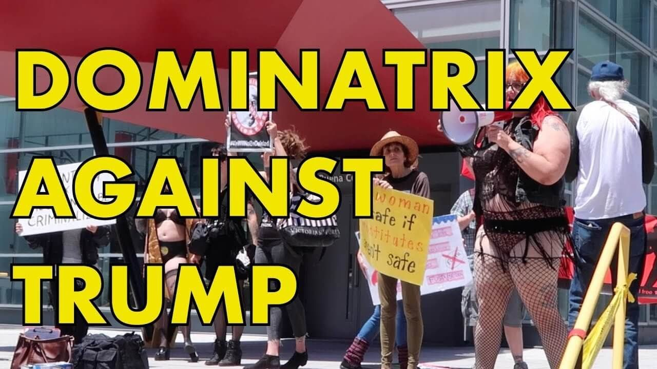 """Whore's Day Rally: """"Dominatrix Against Trump"""" Claims Trump Eats Sh*t!"""