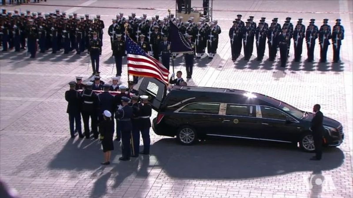 US Honors Former US President George H.W. Bush in Washington