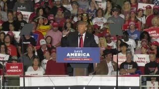 President Trump publicly dismisses Stacey Abrams