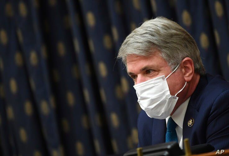 Ranking Member Michael McCaul, R-Tex., questions witnesses during a House Committee on Foreign Affairs hearing looking into the…