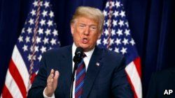 President Donald Trump again asks ABC TV network, May 31, 2108, for an apology a day after the network canceled Roseanne Barr's television show following racist remarks she posted about Valerie Jarrett, a former White House adviser to President Barack Obama.