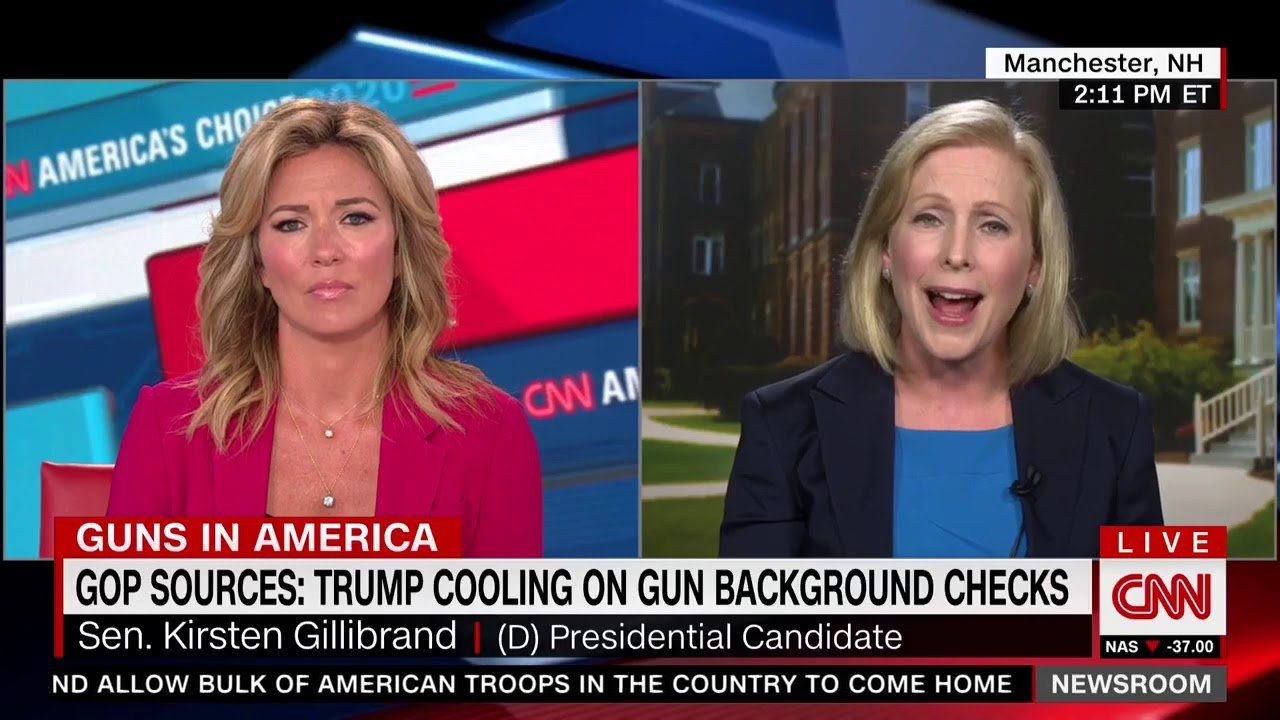 CNN host endorses Gillibrand's gun control plans: 'You get it'
