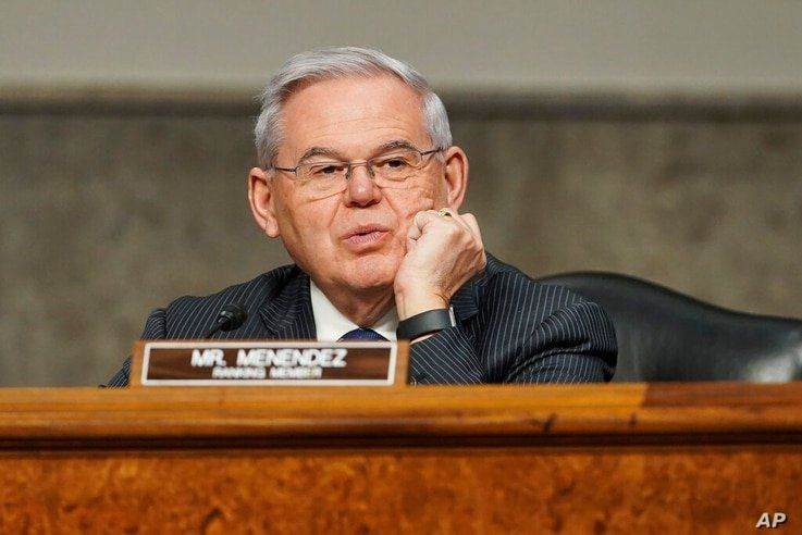 Sen. Robert Menendez, D-N.J., speaks during a confirmation hearing for United States Ambassador to the United Nations nominee…